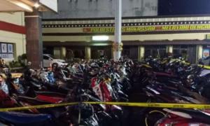 300 Motor Balap Liar di Benteng Somba Opu Makassar Terjaring Polisi