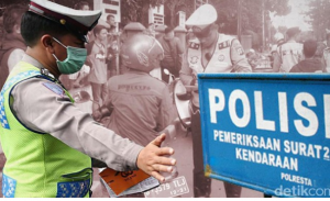 Hindari Razia, Joki Balap Liar di Pekanbaru Ceburkan Motor ke Parit